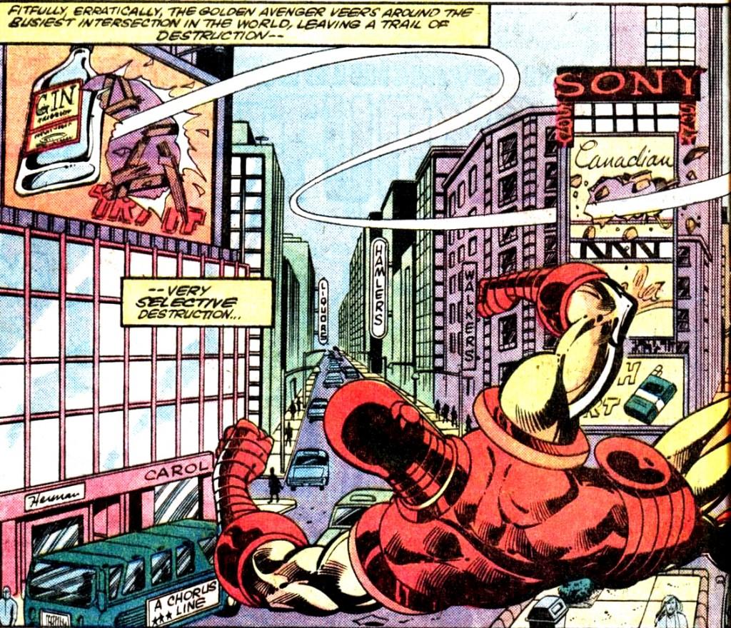 Iron Man lutte à sa manière contre l'affichage de l'alccol !