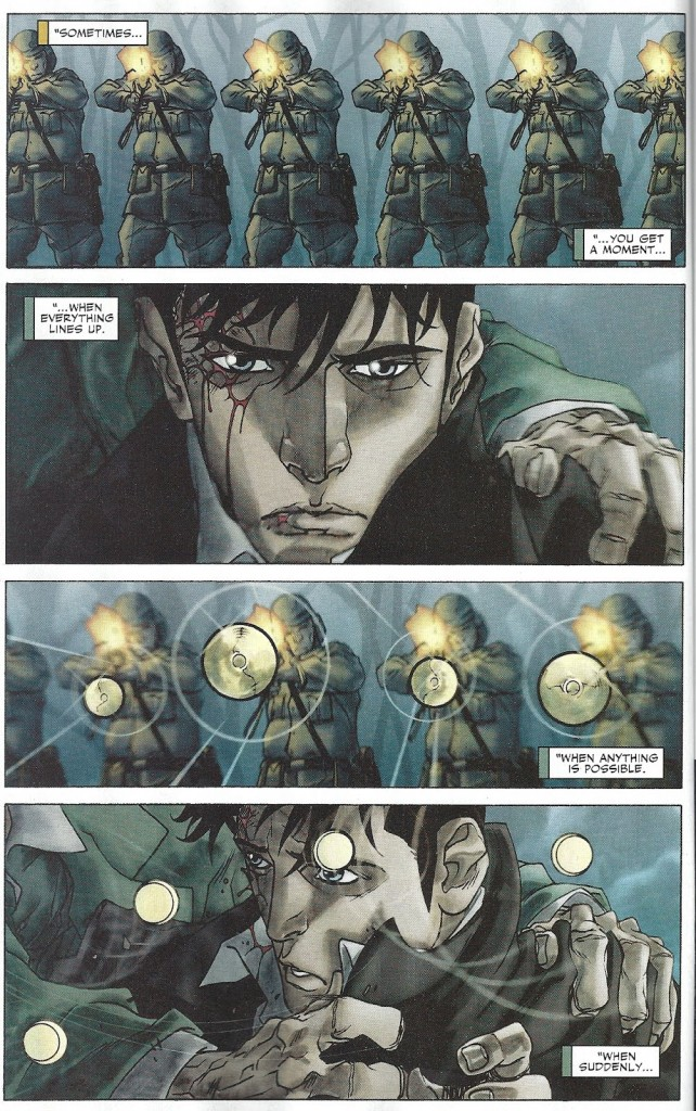 Seule entorse mutante au ton réaliste de l'histoire
