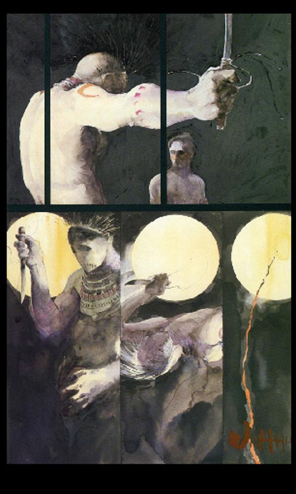 Danse rituelle, Lune, couteau, sang : autant d'éléments symboliques
