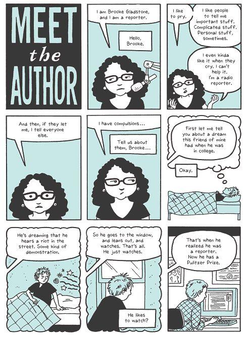 L'auteure se présente.