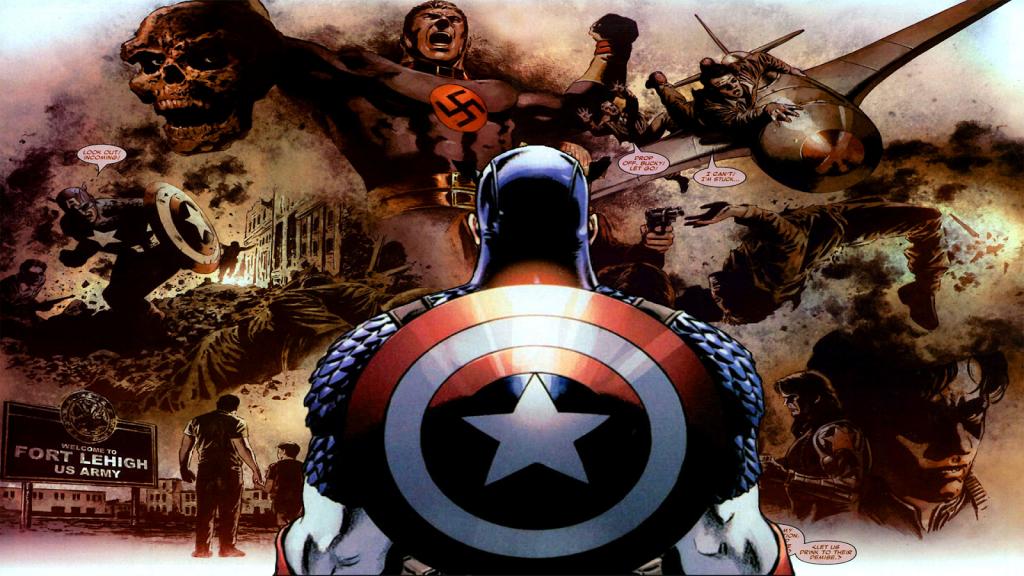 Captain America selon Brubaker : Un parti-pris mythologique englobant toute la continuité.
