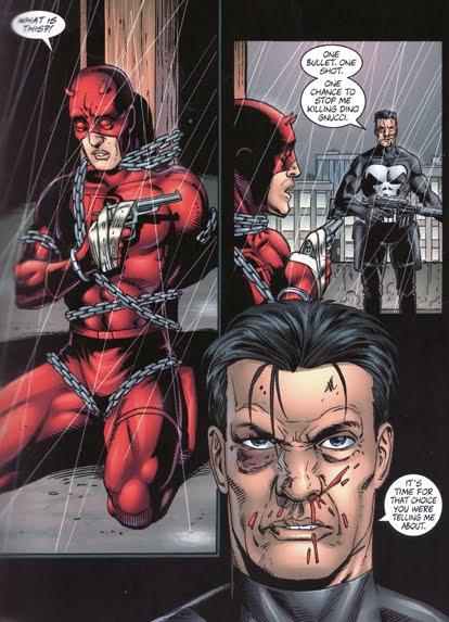 Un dilemme pour Matt Murdock : défendre un criminel ou abattre le Punisher ?