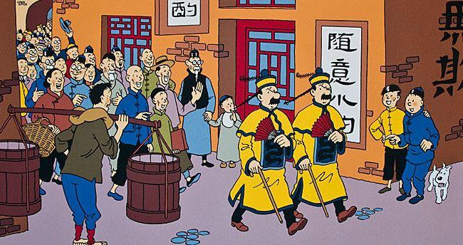 Pour le première fois : Dupond & Dupond endossent les poncifs des pays visités par Tintin !