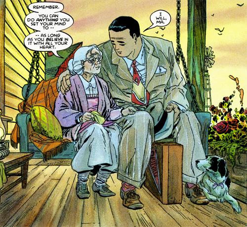 Une véranda joliment aménagée, un Clark massif, une Martha fragile