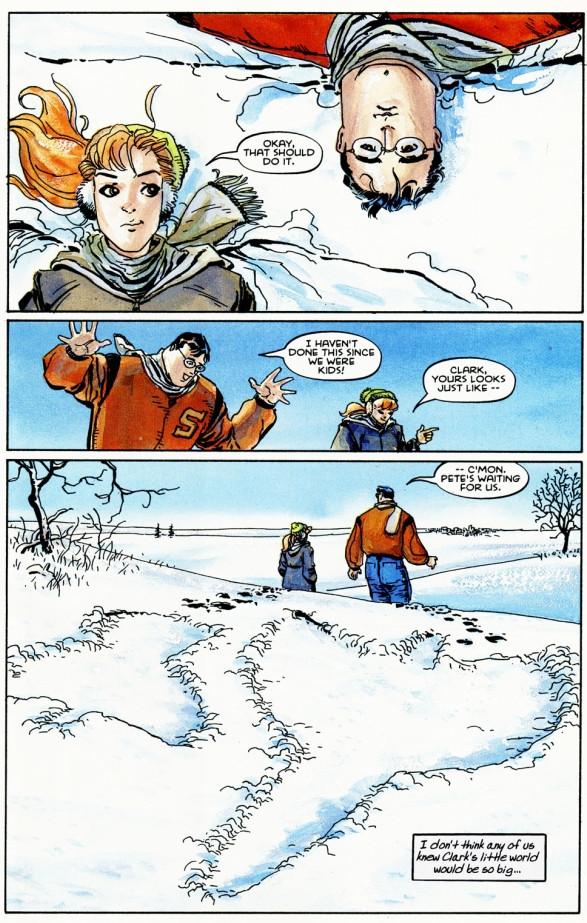 2 anges dans la neige blanche et pure, la proximité avec la nature