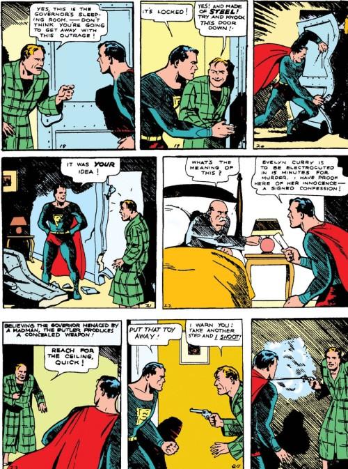 Superman tord une barre dacier à mains nues