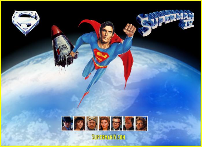 Superman IV. Une affiche qui en dit long sur le sérieux de l'entreprise.