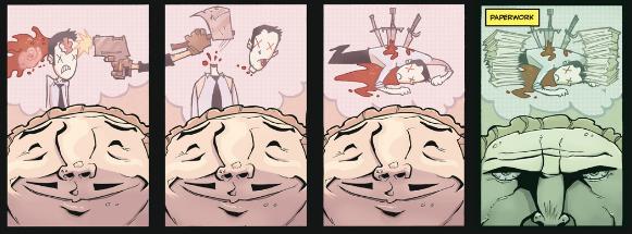 Des exagérations de dessin animé