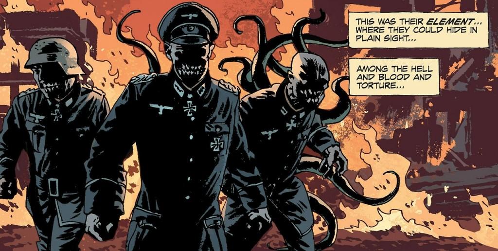 Des nazis, toujours aussi méchants, et en plus avec des tentacules