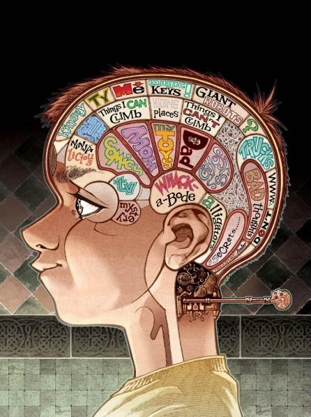 L'art d'illustrer les mystères et la fantaisie du cerveau d'un enfant...