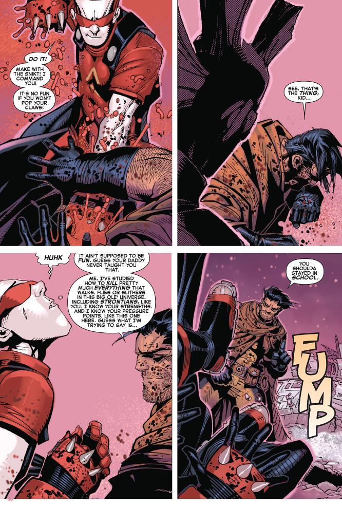 Wolverine : un proviseur qui paye de sa personne.