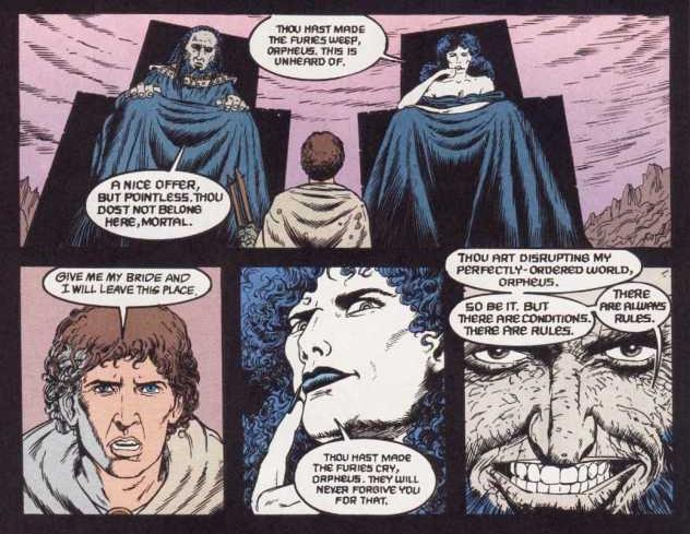 Aux pieds Hadès et Perséphone