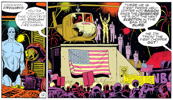 Un super-héros omniscient et un président Nixon qui entame son troisème mandat dans les années 80 : Cela s'appelle une uchronie !
