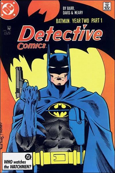 Batman et son arme à feu (Alan Davis)