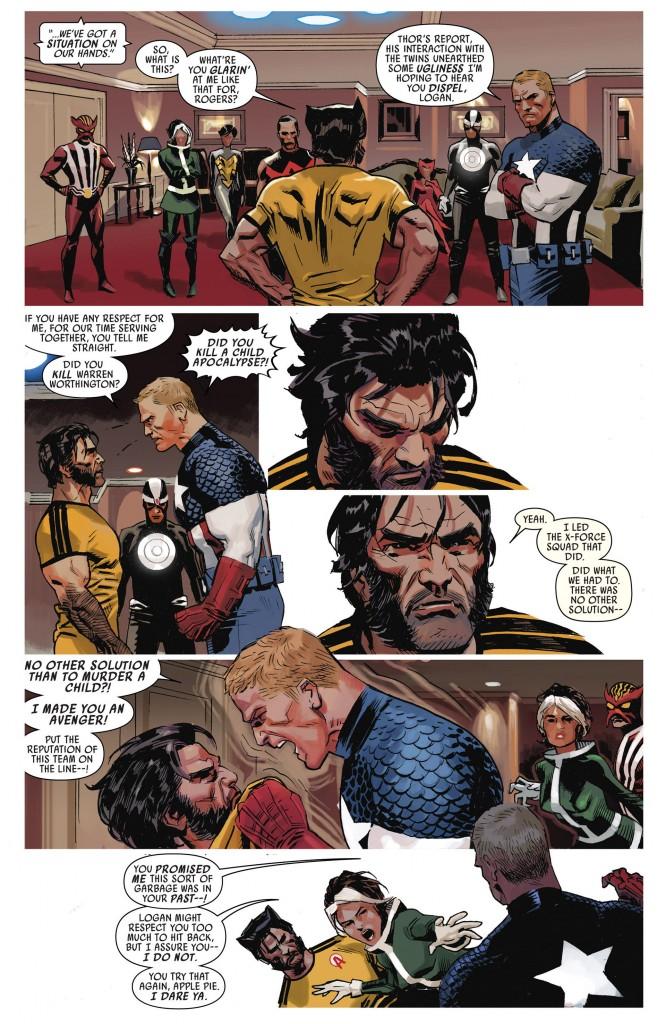 Captain vient d'apprendre que Logan tue des enfants sur son temps libre...