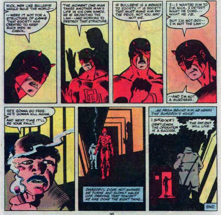 Daredevil plaide sa cause auprès de Manolis