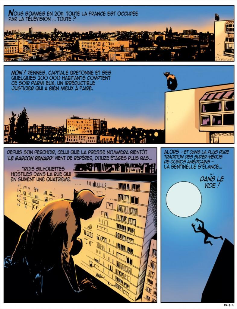 Page d'une ancienne version en VF où l'influence de Bernie Wrightson est plus évidente que dans l'album.