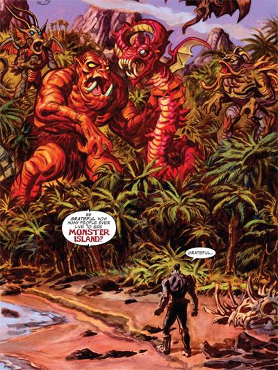 Dan Brereton illustre l'Île aux Monstres de Jack Kirby!