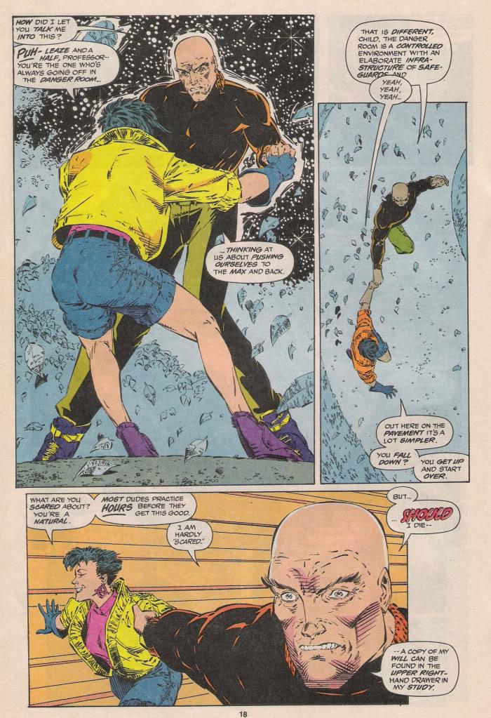 Charles Xavier en patin à roulettes !
