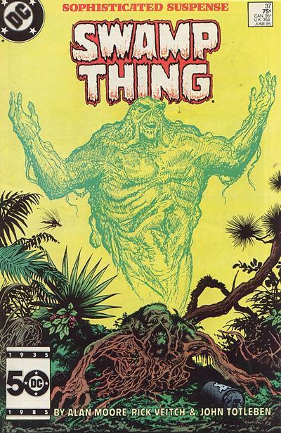 Il n'apparait pas sur la couverture, Mais John Constantine est né dans les pages de ce numéro de la série Saga Of The Swamp Thing!