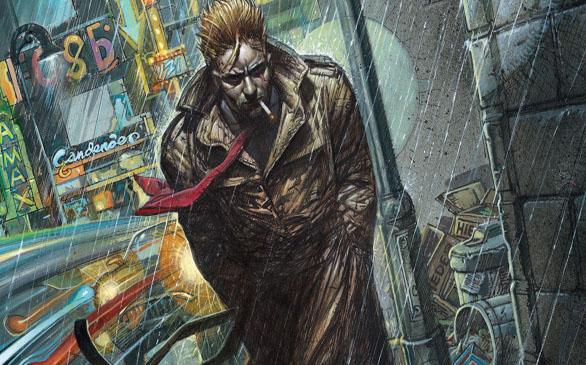 Un magicien erre dans les rues trempées de la capitale britannique…