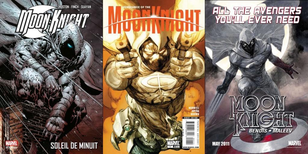 Les précédents relaunchs de Moon Knight en 2006, 2009 et 2011: une présence à éclipse sur les stands des comic-shops.