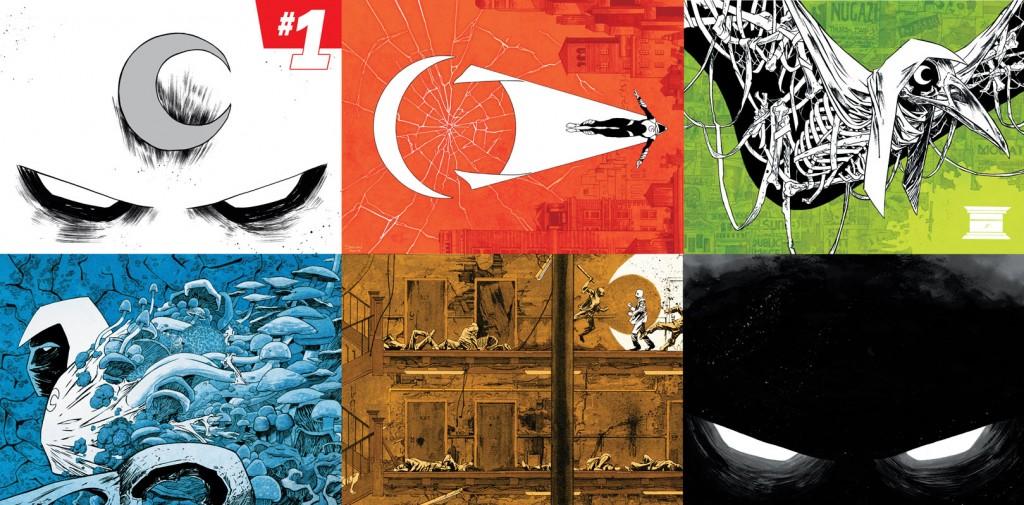 Les six illustrations de couverture réunies