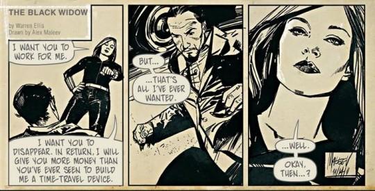 En hommage au comic-strip anglais de Modesty Blaise
