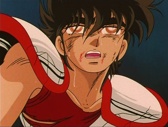 Seiya en 1986 contre le grand pope....