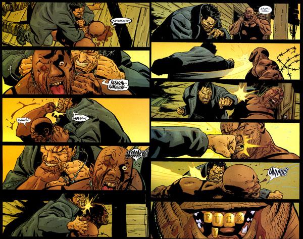 L'âpreté du premier duel entre Frank et Barracuda est très bien rendue par Parlov : huit pages de bagarre au cours desquelles Barracuda perd quatre doigts, deux dents et un œil… mais parvient à triompher !!!