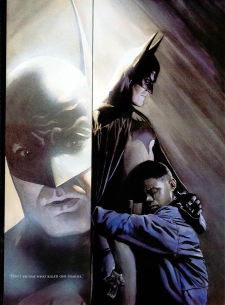 Batman utilise la parole plutôt que les poings pour sauver Marcus