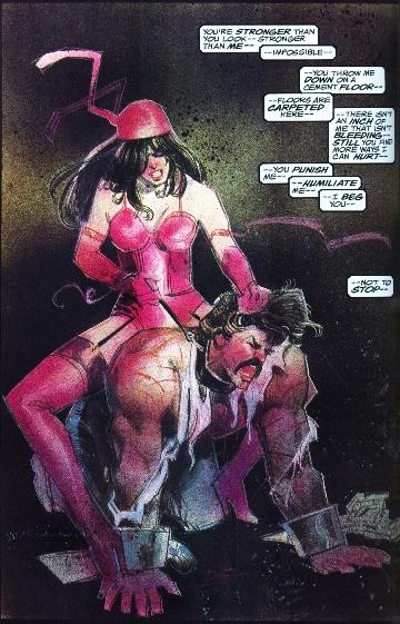 La domination mentale d'Elektra sur Garrett