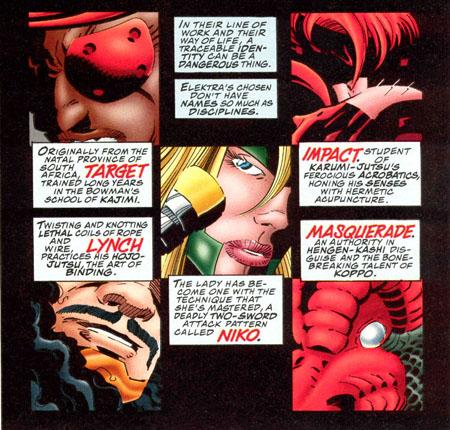 Les membres du Ryu d'Elektra : vite présentés, vite éliminés