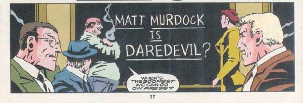 L'identité de Daredevil révélée par un tabloïd : une idée qui sera reprise plus tard par qui vous savez…