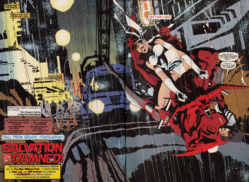 Elektra ressuscitée, Hellspawn mort-vivant et Daredevil trompe-la-mort