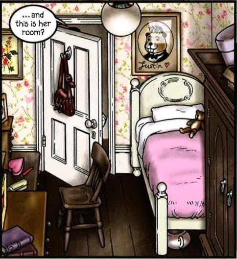 Le détail authentique (le pot de chambre sous le lit