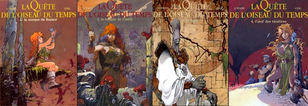 Couvertures des quatre albums