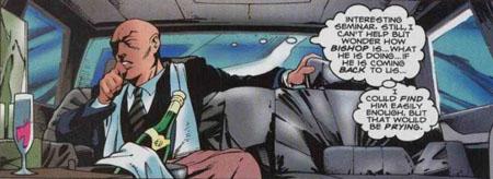 Pendant que ses élèves risquent leur peau, le professeur X s'inquiète pour eux mais ne se laisse pas abattre : il s'enfile du champ' dans la limousine !