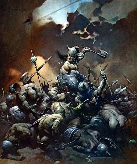 Le concept du guerrier ultime selon Frazetta: Seul contre tous!