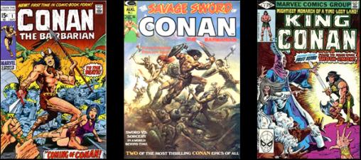 3 séries Marvel mensuelles pour Conan dans les années 1970