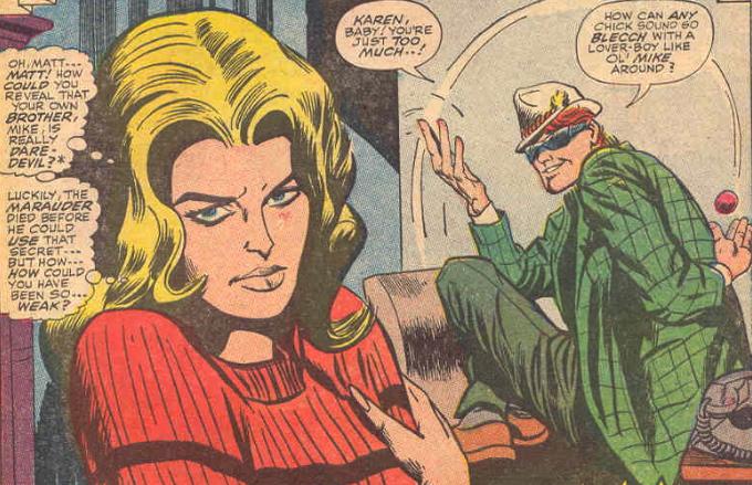 Sous l'apparence de Mike Murdock, notre héros se fout littéralement de la gueule de sa copine...