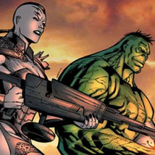 Hulk et sa dulcinée. La bien-nommée Caïera!