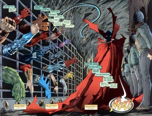 Sauve nous ! (implorent les personnages de Marvel et DC)