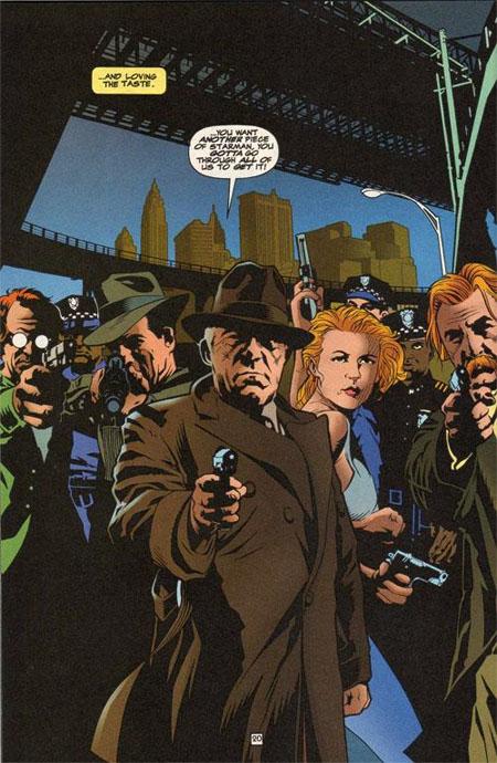 Certains héros ont un allié dans la police, Starman a toute une famille de flics prêts à se battre pour lui