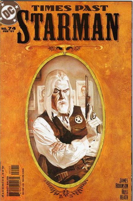 """Le numéro 74, un exemple de """"Times Past"""", celui-ci est consacré à Brian Savage, shériff d'Opal City en 1899"""