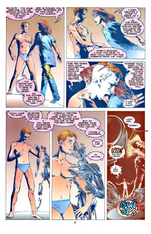 Cable rachitique ( et en slip) face à  une Rachel Summers emblématique au secours de son frère