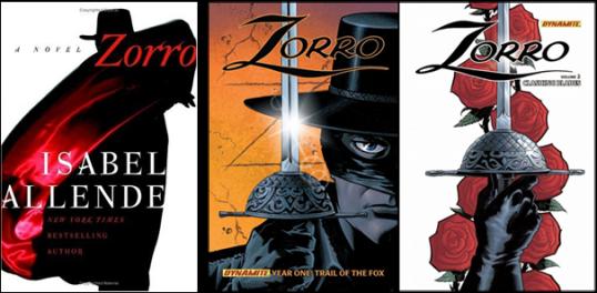Zorro d'Isabel Allende et les tomes 1 & 2 de Matt Wagner