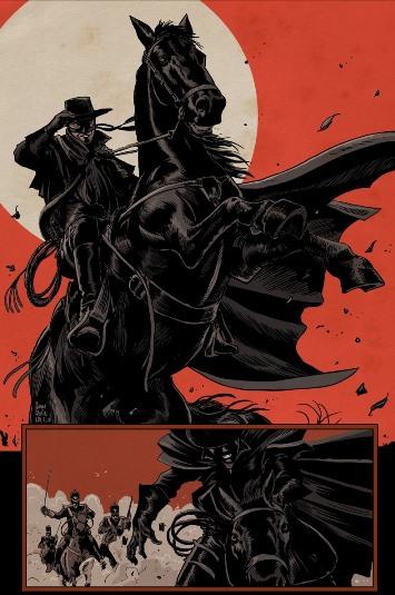 Le rouge pour rehausser le noir de Zorro