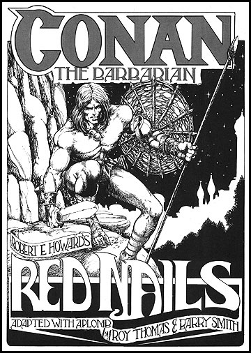"Une version en noir et blanc du célèbre ""Les Clous Rouges"", dessiné par Barry Windsor-Smith !"