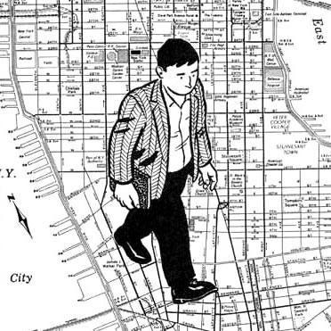 Avec la Cité de Verre de Paul Auster, Mazzucchelli rencontrait une de ses thématiques phares : l'urbanisme et l'architecture...